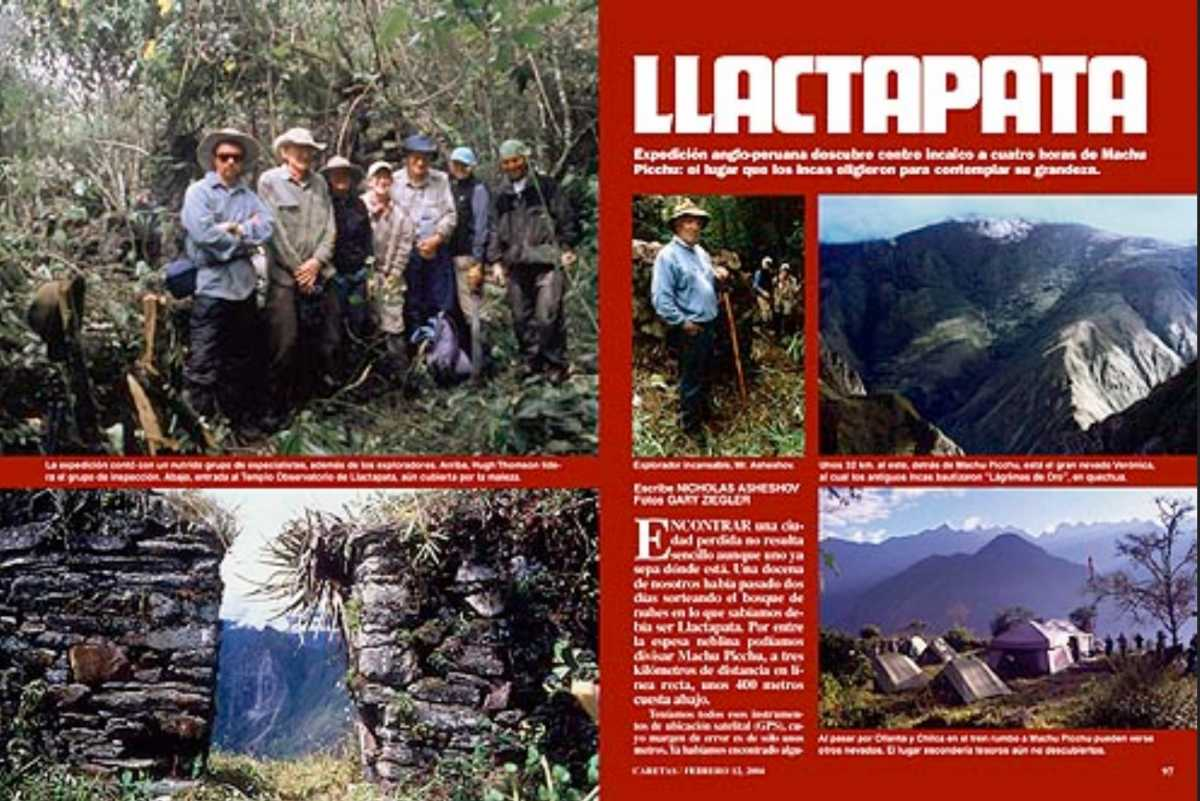 Llactapata Expedition in 2004